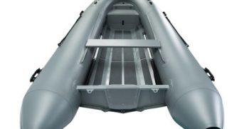 Quicksilver Inflatables 420 ALU-RIB grey back
